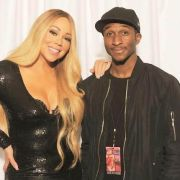 Sam Ajilore and Mariah Carey
