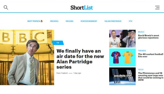 Shortlist website