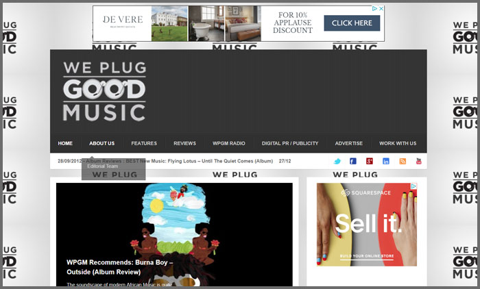 list of music video websites