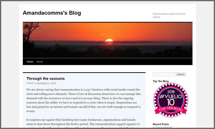 AmandaComms's Blog