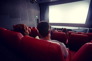 people watching film