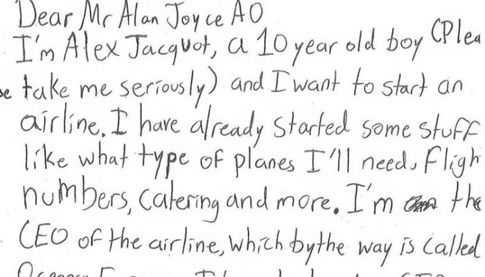 Alex Jacquot letter