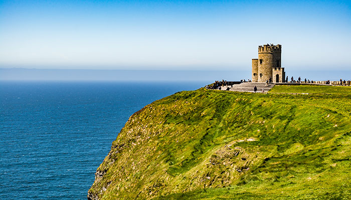 Irish castle by the sea