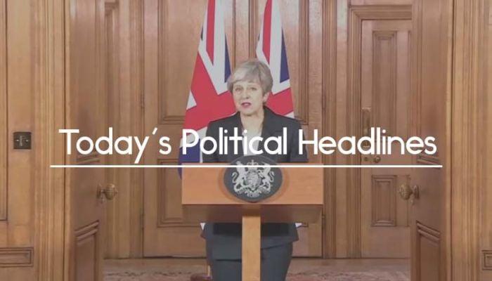 Theresa May blaming MPs