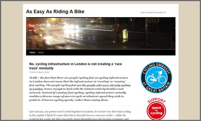 As Easy As Riding A Bike