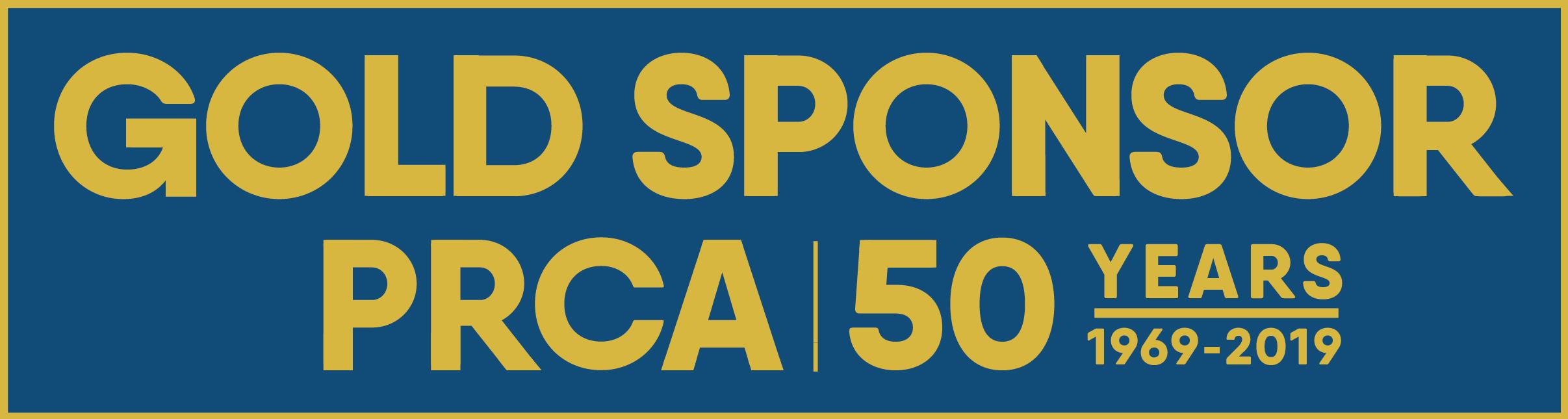 PRCA 50th sponsor logo