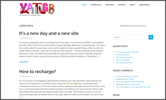 Yet another transgender blog