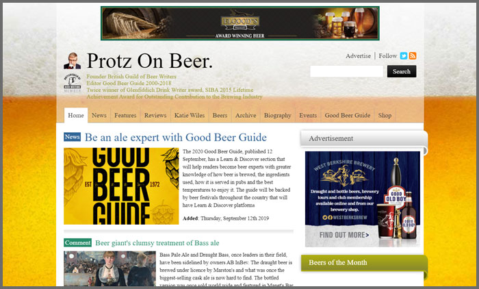 Protz On Beer