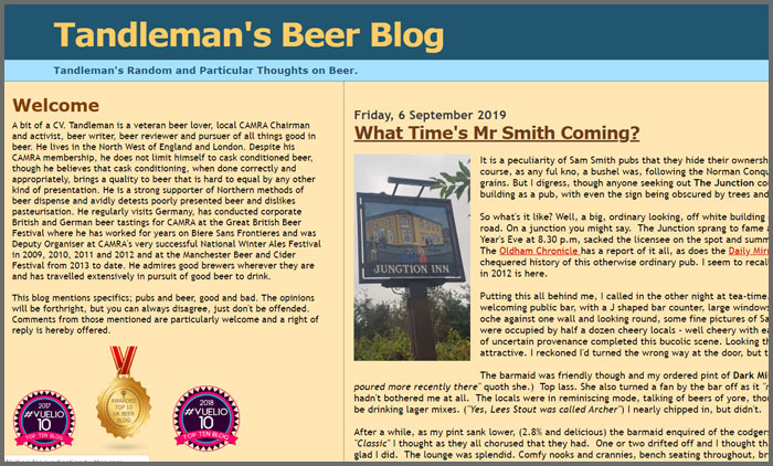 Tandleman's Beer Blog