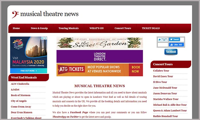 Music Theatre News