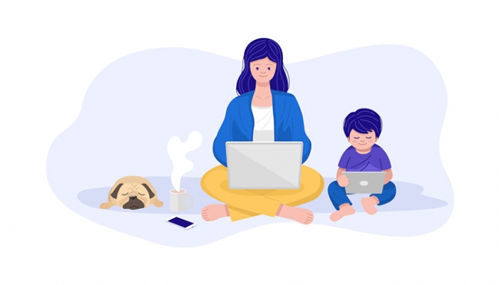 Parenting while WFH