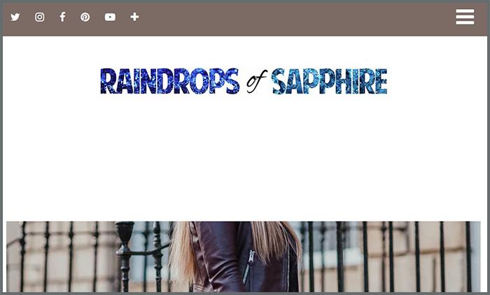 Raindrops of Sapphire