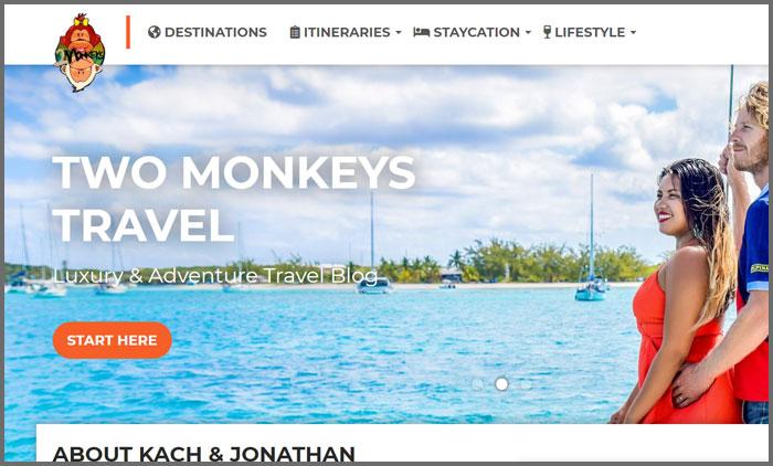 Two Monkeys Travel