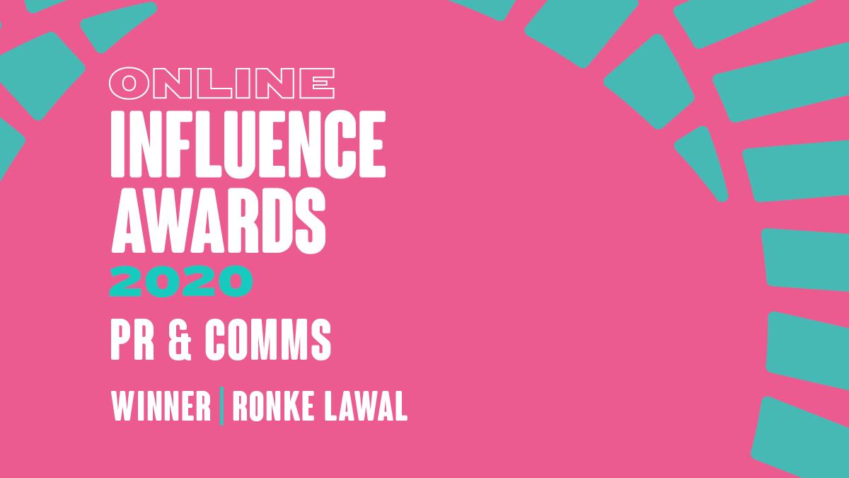 PR & Comms - Winner - Ronke Lawal