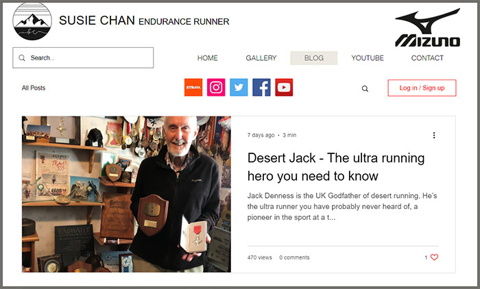 Susie Chan Endurance Runner