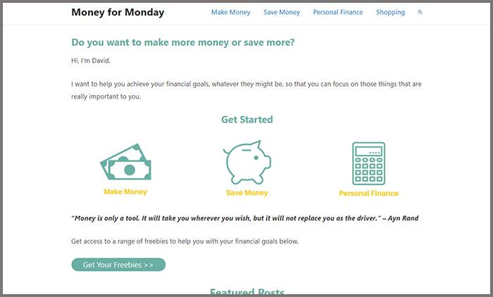 Money For Monday