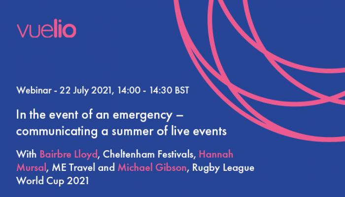 communicating a summer of live events webinar